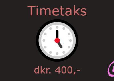timetakst hos webbureauet Enghuus.Com