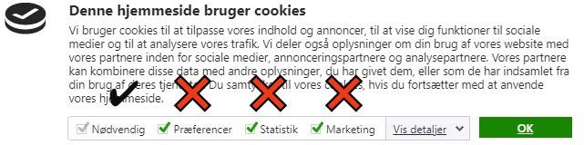 typisk fejl i cookies samtykke