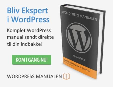 wordpress manual som pdf-fil i din indbakke