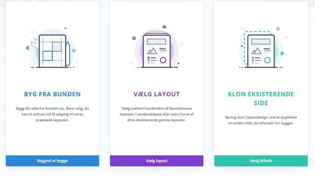 Valg af design til dit indlæg i Divi
